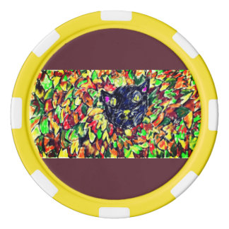 black cat art 2 poker chips