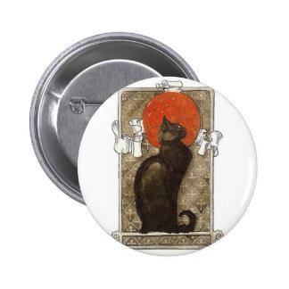 Black Cat - Art Nouveau - Theophile Steinlen 2 Inch Round Button