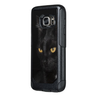 Black Cat Beautiful Eyes Night Photography OtterBox Samsung Galaxy S7 Case