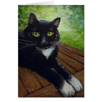 Black Cat - by Lora Shelley Card