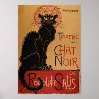 Black Cat Cafe Poster