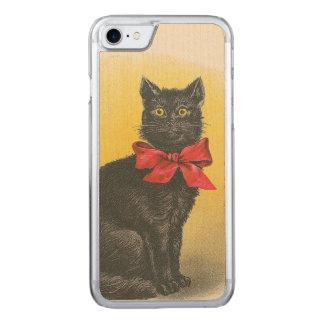 Black Cat Carved iPhone 8/7 Case
