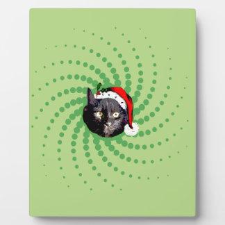Black Cat Christmas Plaque