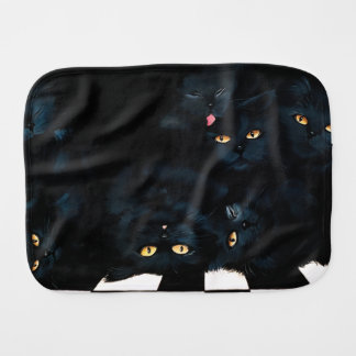 Black Cat Cuddle Burp Cloth