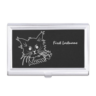 Black Cat custom business card holder