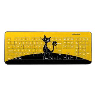 Black Cat Custom Wireless Keyboard