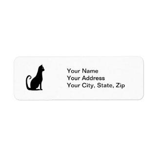 Black Cat Design Return Address Label
