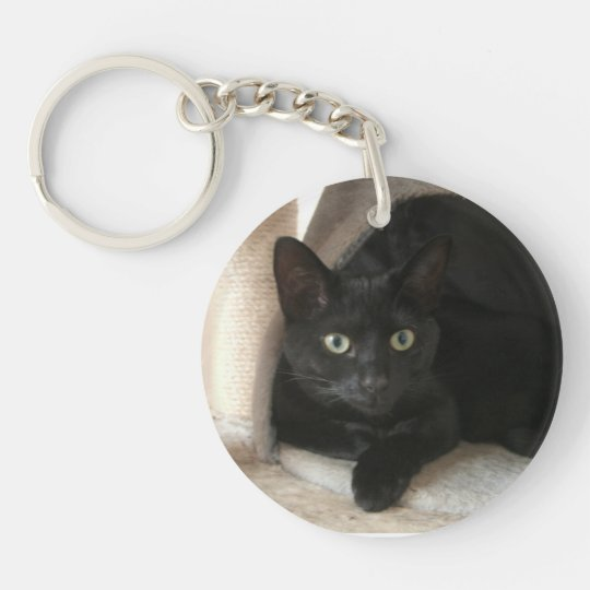 Black Cat Double-sided Keychain
