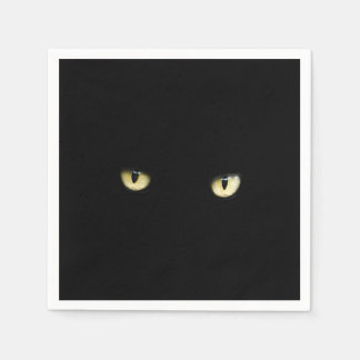 Black Cat Eyes | Halloween Paper Napkin
