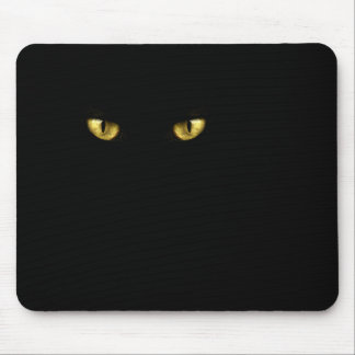 Black Cat Eyes Mousepad