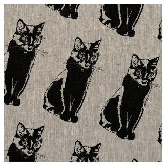 Black Cat Fabric