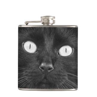 Black Cat Face - Flask
