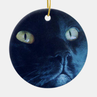Black Cat Face Ornament