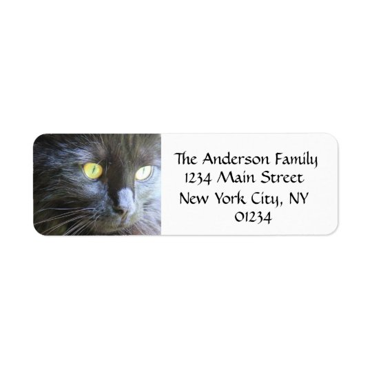 Black Cat Face, Return Address Labels