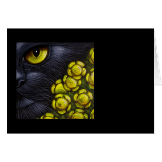 BLACK CAT - FENNEL FLOWERS CUSTOMIZE Card
