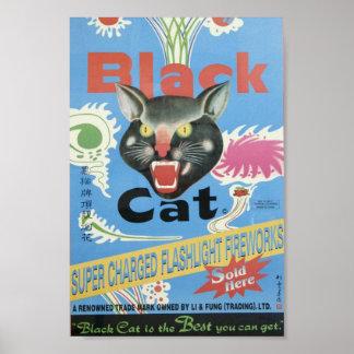Black Cat Fireworks Poster