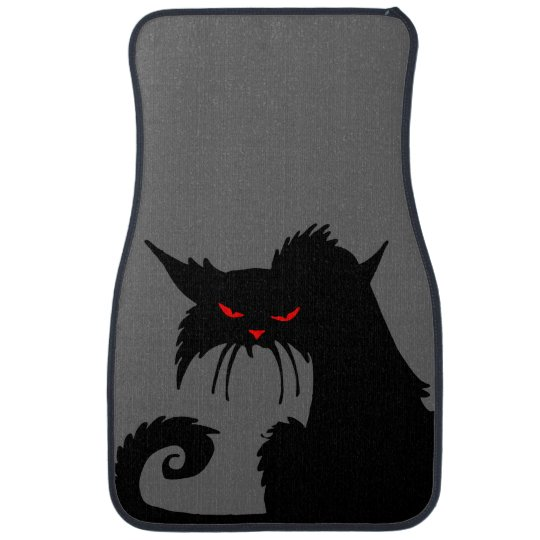 Black Cat Floor Mat
