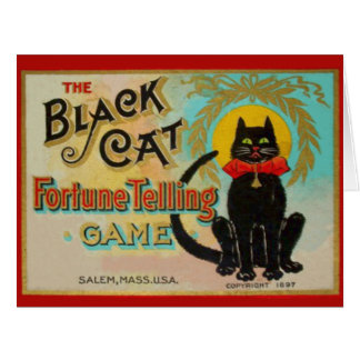 Black Cat Fortune Telling Game Card