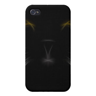 Black Cat Fractal iPhone4 iPhone 4 Covers