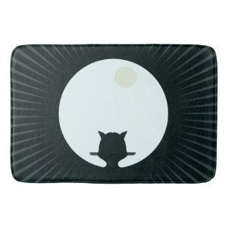 Black Cat Full Moon Bath Mat