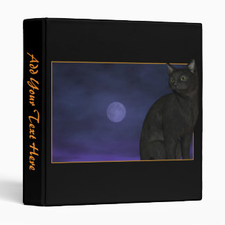 Black Cat / Full Moon Binder w/ your text
