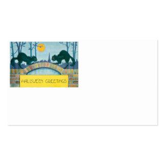 Black Cat Full Moon Business Card