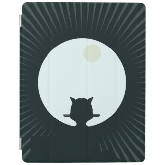 Black Cat Full Moon iPad Cover