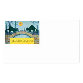 Black Cat Full Moon Pack Of Standard Business Cards