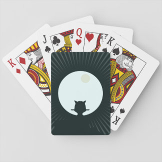 Black Cat Full Moon Playing Cards