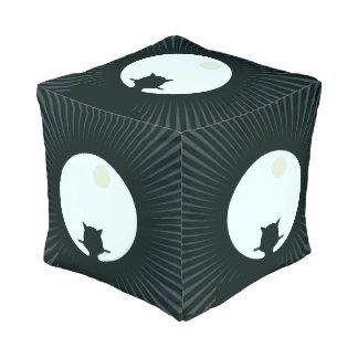 Black Cat Full Moon Pouf