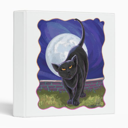Black Cat Gifts & Accessories 3 Ring Binders