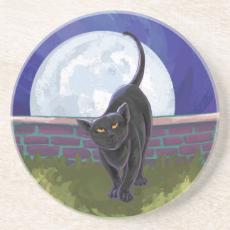 Black Cat Gifts Accessories Coaster