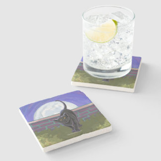 Black Cat Gifts Accessories Stone Beverage Coaster