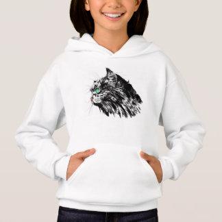 Black cat Girls' Hanes ComfortBlend® Hoodie