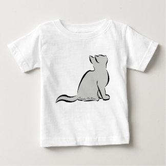 Black cat, grey fill, inside words baby T-Shirt
