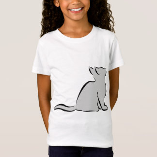 Black cat, grey fill T-Shirt