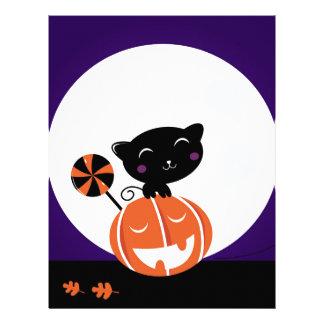Black cat halloween edition letterhead