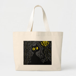 Black cat - Halloween Large Tote Bag