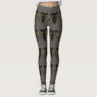 Black cat Halloween leggings
