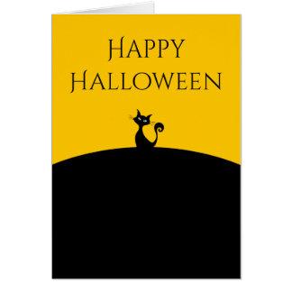Black Cat Happy Halloween Card
