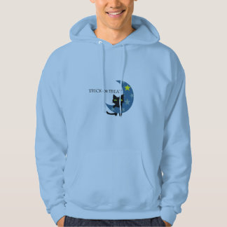 Black Cat Hunging the Blue Moon Hoodie
