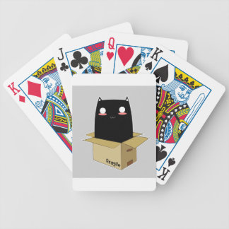 Black Cat in a Box Bicycle Playing Cards