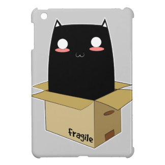 Black Cat in a Box iPad Mini Cover