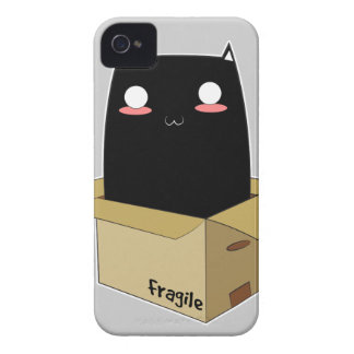 Black Cat in a Box iPhone 4 Case-Mate Case