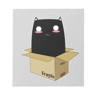 Black Cat in a Box Notepad