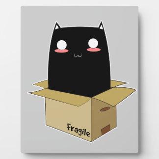 Black Cat in a Box Plaque