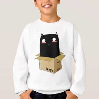 Black Cat in a Box Sweatshirt