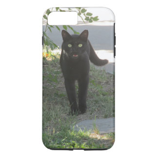 Black Cat in a Garden Case-Mate iPhone Case