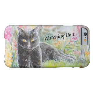 Black Cat in Field of Flowers Barely There iPhone 6 Case