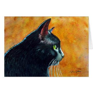 Black Cat in Profile, Tickles Card